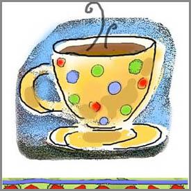 contemporary coffee mug watercolor painting by trish murtha