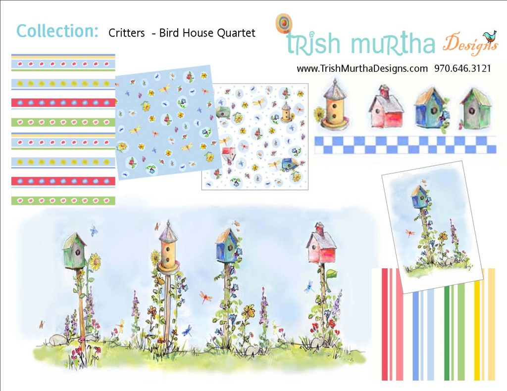 Collection Sheet - Bird House Quartet (Part A) Trish Murtha Designs