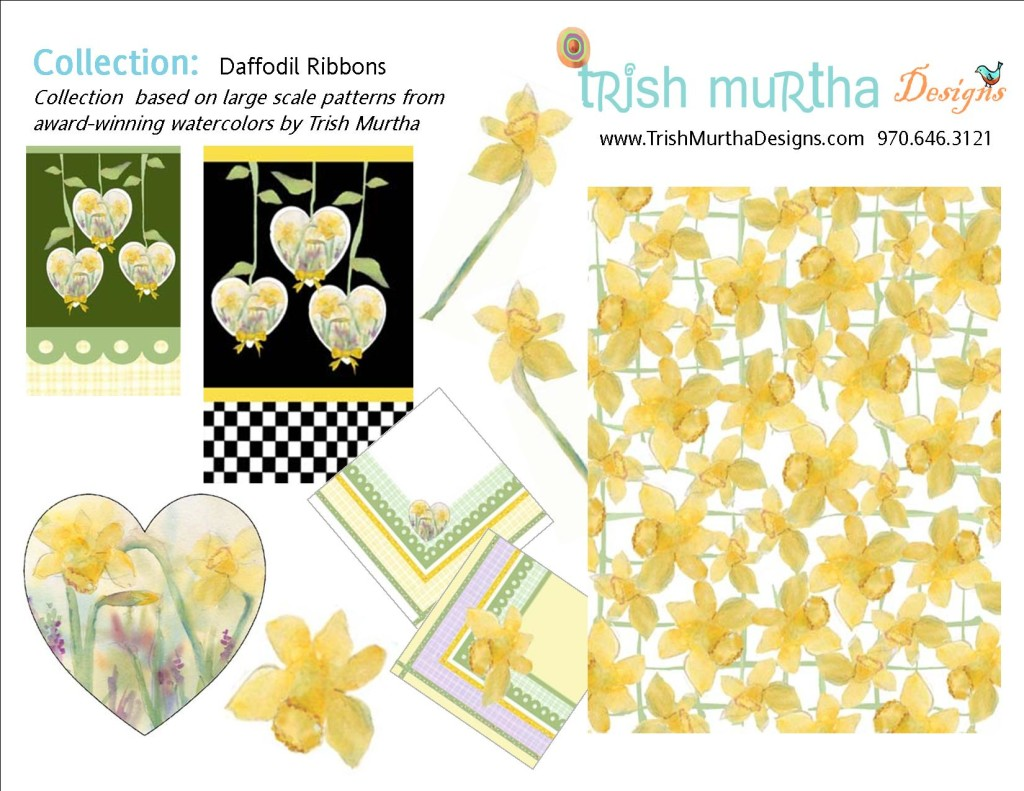 Collection Sheet -Daffodil Ribbons-Trish Murtha Designs