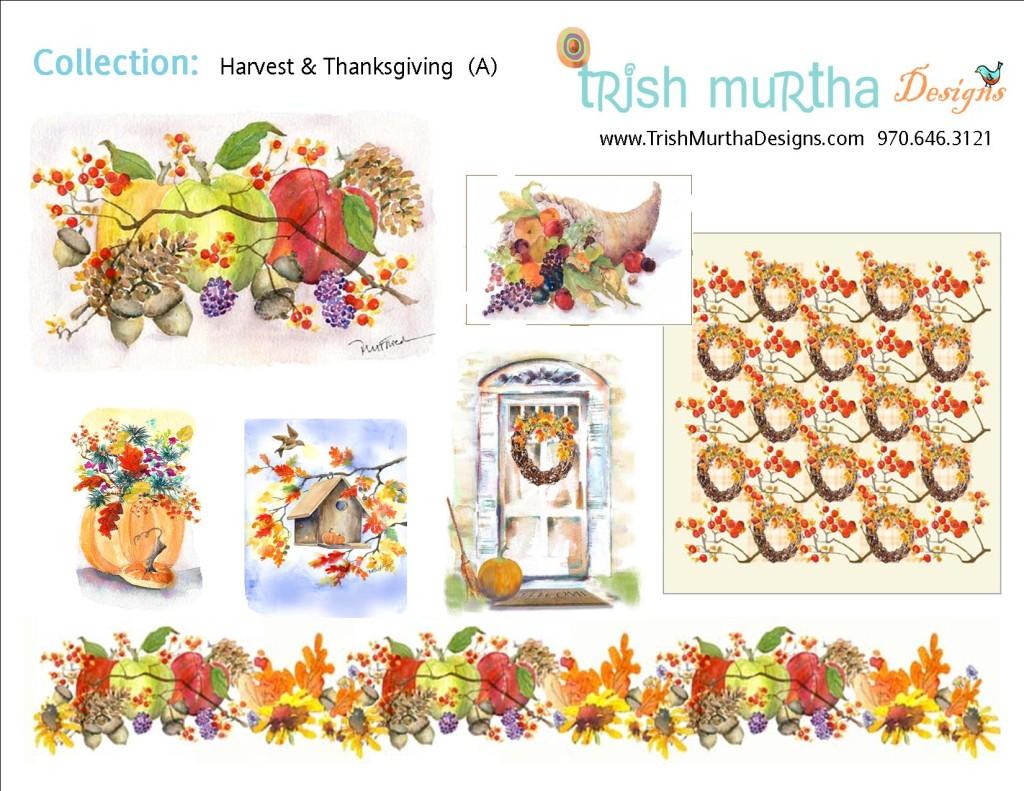Collection Sheet - Harvest + Thanksgiving A -Trish Murtha Designs