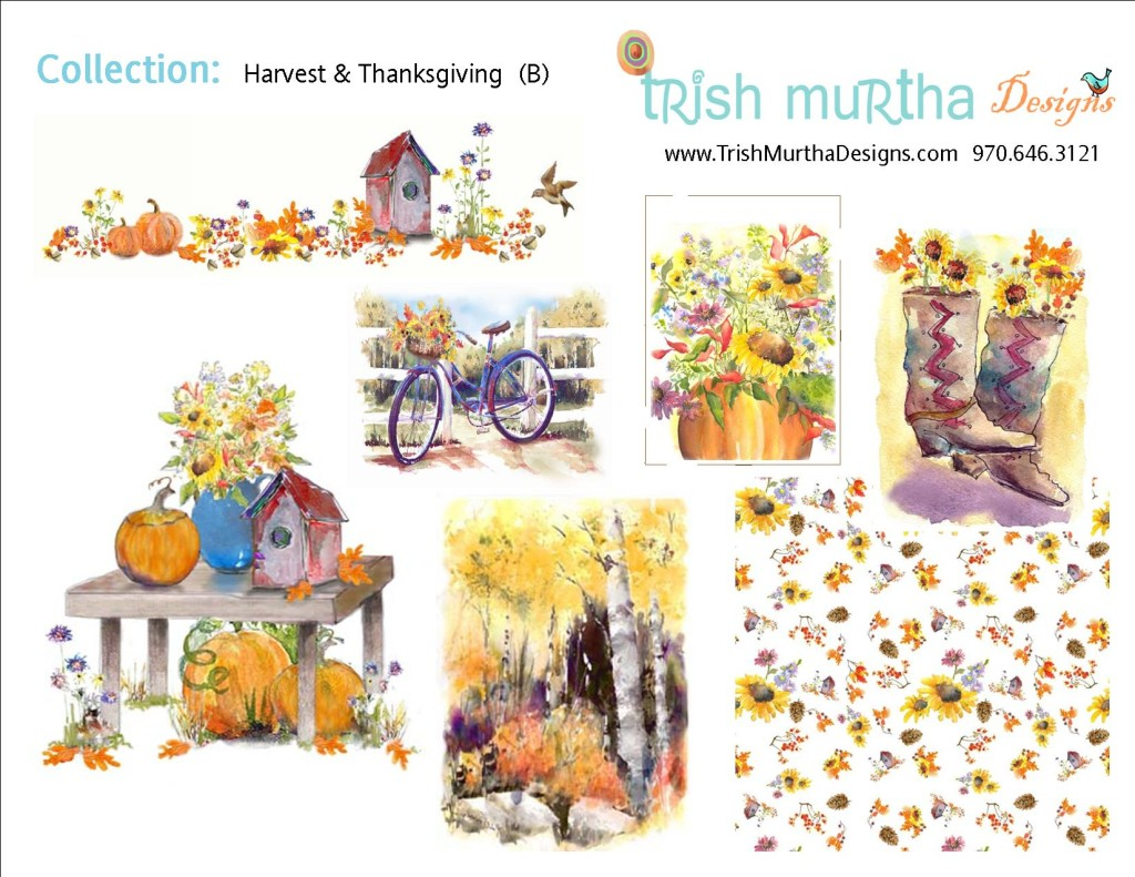 Collection Sheet - Harvest + Thanksgiving B -Trish Murtha Designs