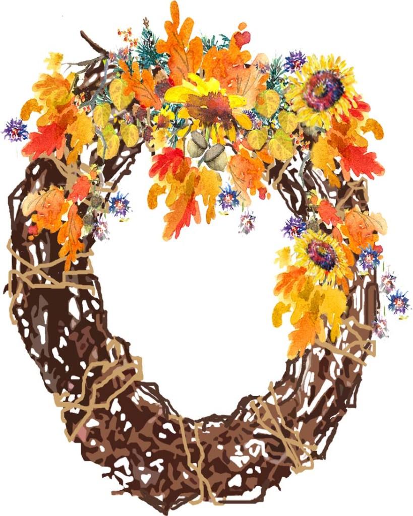 Grape Vine Wreath - Fall Leaves copy